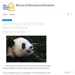 Le professeur de latin devient officiellement une espèce protégée. – Réseau d'Information Prioritaire