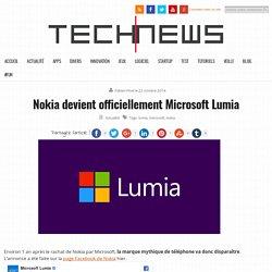 Nokia devient officiellement Microsoft Lumia