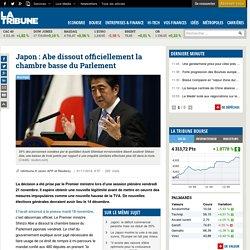 Japon: Abe dissout officiellement la chambre basse du Parlement
