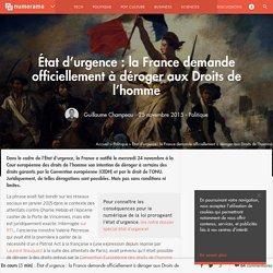 État d'urgence : la France demande officiellement à déroger aux Droits de l'homme - Politique