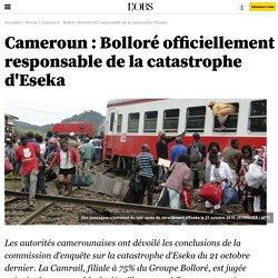Cameroun : Bolloré officiellement responsable de la catastrophe d'Eseka - L'Obs
