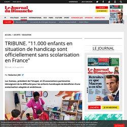 """TRIBUNE. """"11.000 enfants en situation de handicap sont officiellement sans scolarisation en France"""""""
