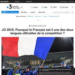 JO 2018. Pourquoi le Français est-il une des deux langues officielles de la compétition ?