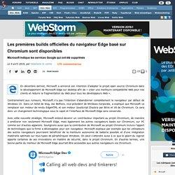 Les premières builds officielles du navigateur Edge basé sur Chromium sont disponibles, Microsoft indique les services Google qui ont été supprimés