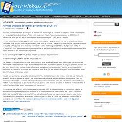 Normes officielles et normes propriétaires pour l'IoT