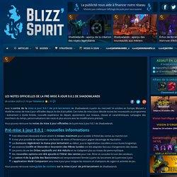 Les notes officielles de la pré-mise à jour 9.0.1 de Shadowlands - BlizzSpirit : News et guides
