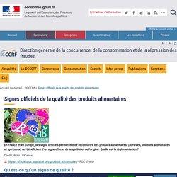 DGCCRF 04/02/16 Les signes officiels de la qualité