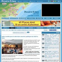 OFFICIELS - SÈTE : Salle comble pour la dernière réunion publique du SCOT à Sète