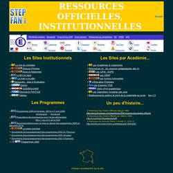 sites officiels, institutionnels et par académie... pour l'école