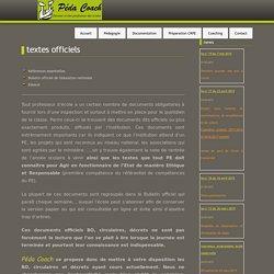 Textes officiels » pedacoach.org - Devenir et être professeur des écoles
