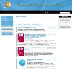 10. Textes officiels - Se préparer au C.A.F.I.P.E.M.F. dans l'Académie de la Guyane