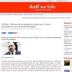 idem OSDH pour la SYRIE financée par UE/UK