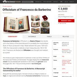Officiolum of Francesco da Barberino « Facsimile edition