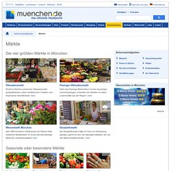 Märkte in München – Das offizielle Stadtportal muenchen.de