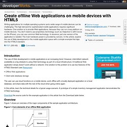 Create offline Web applications on mobile devices with HTML5