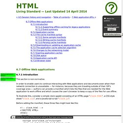 6.6 Offline Web applications — HTML5 (including next generation