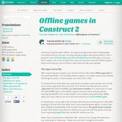 Offline games in Construct 2