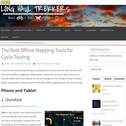 The Best Offline Mapping Tools for Cycle Touring