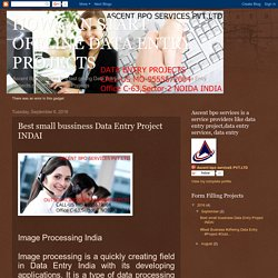 HOW CAN START OFFLINE DATA ENTRY PROJECTS: Best small bussiness Data Entry Project INDAI