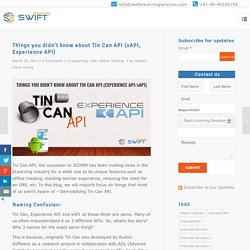 What is Tin Can API, LRS, Offline Tracking for elearning course