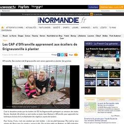 Les CAP d'Offranville apprennent aux écoliers de Grigneuseville à planter