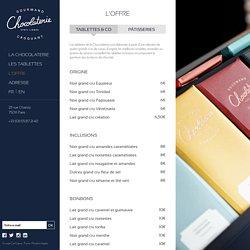 L'offre - La chocolaterie Cyril Lignac