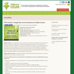 Offre emploi: Vigilance OGM