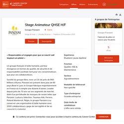 Offre Groupe Panzani - Stage Animateur QHSE H/F