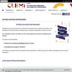 Offres 2019 des partenaires- CLEMI
