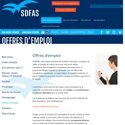 » Offres d'Emploi San Diego French-American School