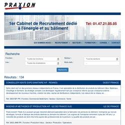 Offres d'emploi BTP – Métiers du Bâtiment