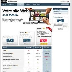 Héberger un site > MAGIX Monde en ligne