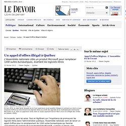 Un appel d'offres illégal à Québec