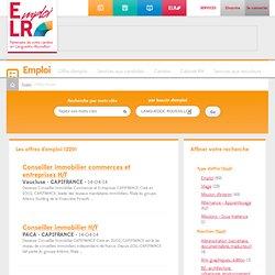 Les offres d'emploi en Languedoc Roussillon - Emploi LR