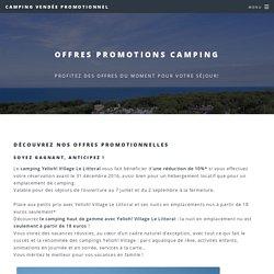 offres promotionnelles camping vendée