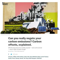 Carbon offsets, the popular climate change mitigation tactic, explained