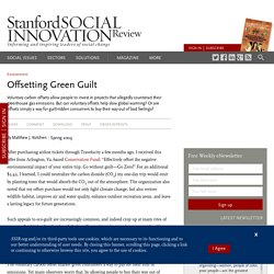 Offsetting Green Guilt