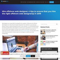 Hire offshore web designer: 4 tips to ensure that you hire the right offshore web designer(s) in 2019 - Dallas-BorderlessMind