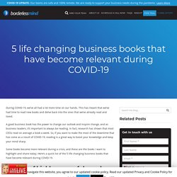 5 life changing business books that have become relevant during COVID-19
