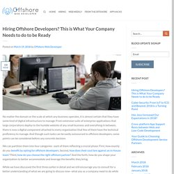 Hiring Offshore Developers? This is What Your Company Needs to do to be Ready
