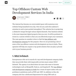 Top Offshore Custom Web Development Services In India