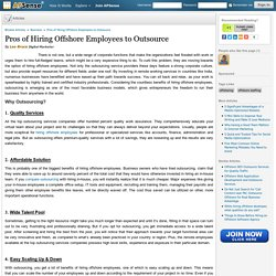 Pros of Hiring Offshore Employees to Outsource Business Services