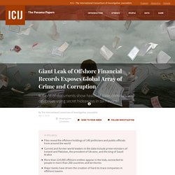 Giant Leak of Offshore Financial Records Exposes Global Array of Crime and Corruption · ICIJ