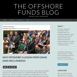 Why offshore? A lesson from Cameron