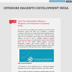 Offshore Magento Development Company India