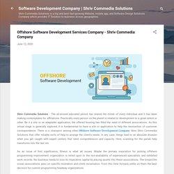 Offshore Software Development Services Company - Shriv Commedia Company
