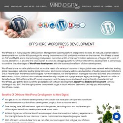 benefits of offshore wordpress development services
