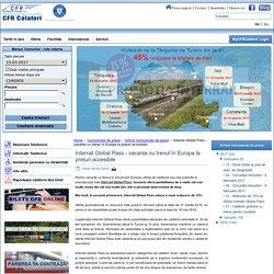 Site Oficial CFR Călători - Interrail Global Pass - vacanțe cu trenul în Europa la prețuri accesibile