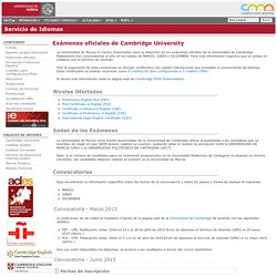 Exámenes oficiales de Cambridge University