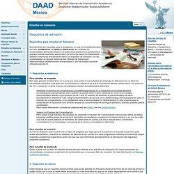 Oficina México, D.F. - Requisitos de admisión